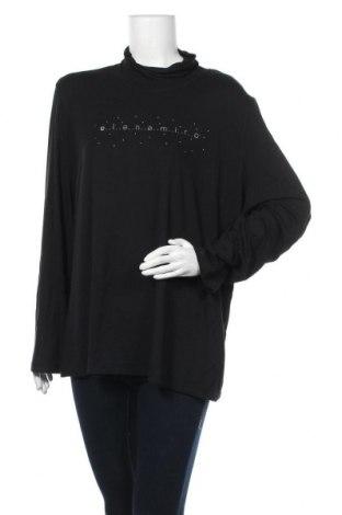 Дамска блуза Elena Miro, Размер 4XL, Цвят Черен, 94% вискоза, 6% еластан, Цена 39,69лв.
