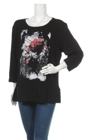 Дамска блуза Elena Miro, Размер L, Цвят Черен, 96% вискоза, 4% еластан, Цена 41,40лв.