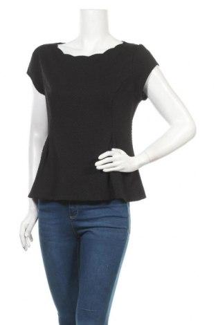 Дамска блуза Elle, Размер M, Цвят Черен, 93% полиестер, 7% еластан, Цена 13,44лв.