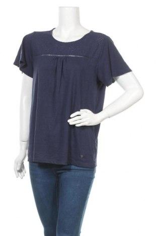 Дамска блуза Essentials by Tchibo, Размер M, Цвят Син, 50% полиестер, 38% памук, 12% вискоза, Цена 4,73лв.