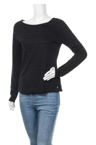 Дамска блуза Essentials by Tchibo, Размер M, Цвят Черен, 67% полиестер, 33% вискоза, Цена 16,07лв.