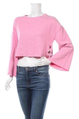Дамска блуза Fb Sister, Размер XS, Цвят Розов, 53% памук, 47% полиестер, Цена 19,95лв.