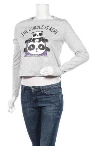Дамска блуза Fb Sister, Размер S, Цвят Сив, 77% полиестер, 19% вискоза, 4% еластан, Цена 19,95лв.