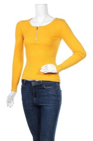 Дамска блуза Fb Sister, Размер XS, Цвят Жълт, Цена 16,96лв.