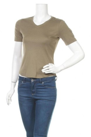 Дамска блуза G.W., Размер S, Цвят Зелен, 100% памук, Цена 5,77лв.