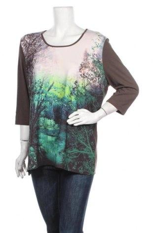 Γυναικεία μπλούζα Gina Laura, Μέγεθος XL, Χρώμα Καφέ, 95% βισκόζη, 5% ελαστάνη, Τιμή 8,28€