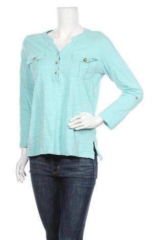 Дамска блуза Gloria Vanderbilt, Размер M, Цвят Син, Памук, Цена 15,12лв.