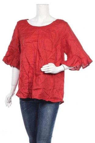 Дамска блуза Grae, Размер XL, Цвят Червен, Лен, Цена 18,95лв.