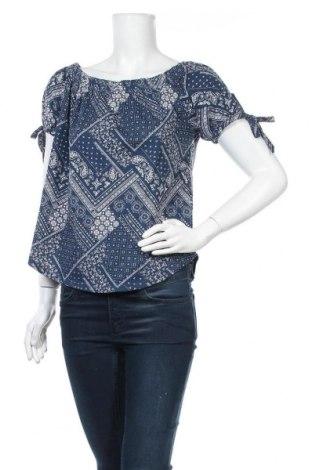 Дамска блуза H&M L.O.G.G., Размер S, Цвят Син, Памук, Цена 4,46лв.