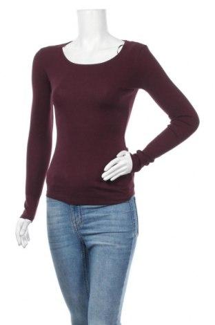 Дамска блуза H&M L.O.G.G., Размер XS, Цвят Червен, 97% памук, 3% еластан, Цена 17,85лв.