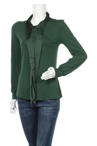 Дамска блуза Hallhuber, Размер M, Цвят Зелен, 92% вискоза, 8% еластан, Цена 36,75лв.