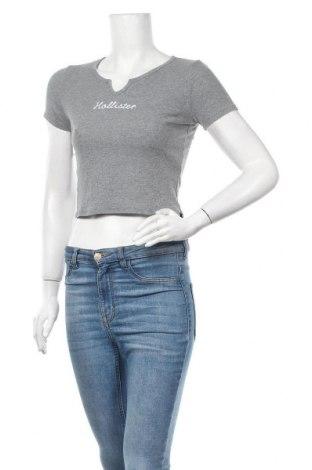 Дамска блуза Hollister, Размер M, Цвят Сив, Цена 17,85лв.