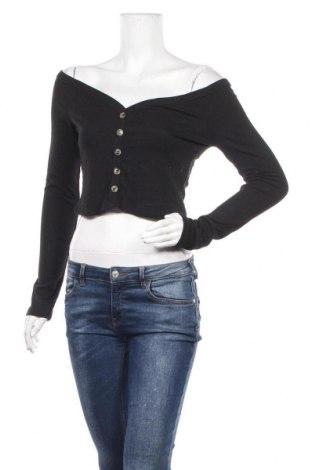 Дамска блуза Iris, Размер L, Цвят Черен, 80% полиестер, 14% вискоза, 6% еластан, Цена 4,73лв.