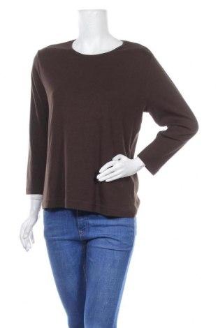 Дамска блуза Joy, Размер XL, Цвят Кафяв, Памук, Цена 17,96лв.