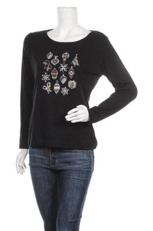 Дамска блуза Karen Scott, Размер M, Цвят Черен, Памук, Цена 6,62лв.
