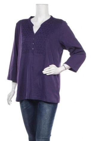 Дамска блуза Karen Scott, Размер XL, Цвят Лилав, 60% памук, 40% полиестер, Цена 12,29лв.