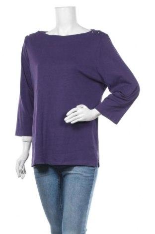 Дамска блуза Karen Scott, Размер XL, Цвят Лилав, 60% памук, 40% полиестер, Цена 7,56лв.