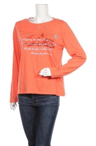 Дамска блуза L.L. Bean, Размер L, Цвят Оранжев, Памук, Цена 14,18лв.