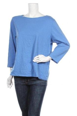 Дамска блуза Land's End, Размер XXL, Цвят Син, 92% памук, 8% еластан, Цена 10,24лв.