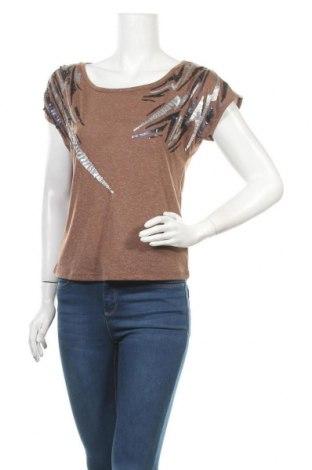 Γυναικεία μπλούζα Madonna, Μέγεθος XS, Χρώμα Καφέ, 80% βισκόζη, 20% ραμί, Τιμή 9,35€