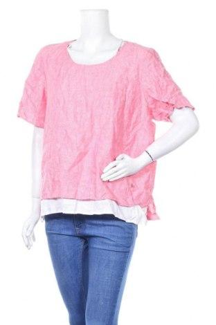 Γυναικεία μπλούζα Maggie T, Μέγεθος XL, Χρώμα Ρόζ , Λινό, Τιμή 4,97€