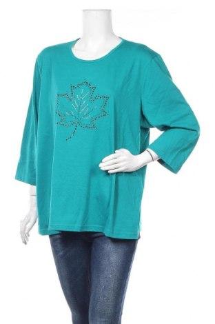 Γυναικεία μπλούζα Malva, Μέγεθος XXL, Χρώμα Μπλέ, 65% πολυεστέρας, 35% βαμβάκι, Τιμή 8,02€
