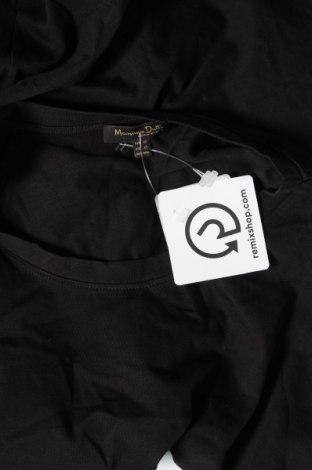 Дамска тениска Massimo Dutti, Размер XS, Цвят Черен, Памук, Цена 18,24лв.