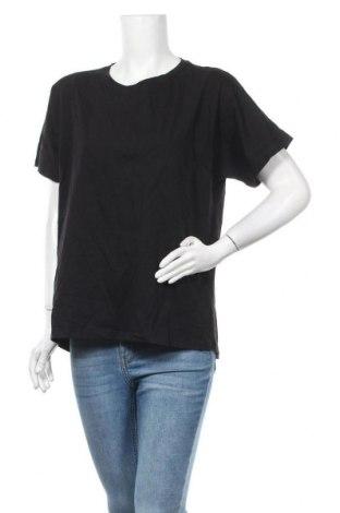 Дамска тениска Massimo Dutti, Размер L, Цвят Черен, Памук, Цена 23,40лв.