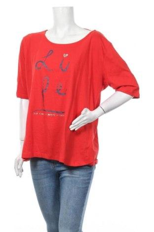 Дамска блуза Maxi Blue, Размер XXL, Цвят Червен, Памук, Цена 14,28лв.