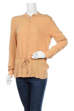 Дамска блуза Mbym, Размер S, Цвят Бежов, Вискоза, Цена 50,37лв.