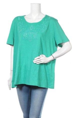 Γυναικεία μπλούζα Michele Boyard, Μέγεθος XXL, Χρώμα Πράσινο, Βαμβάκι, Τιμή 11,04€