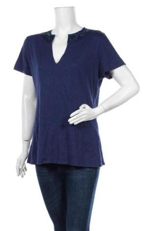 Дамска блуза Mix, Размер XL, Цвят Син, Памук, Цена 13,97лв.
