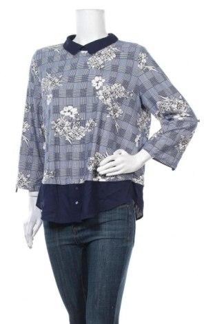 Дамска блуза Monteau, Размер XL, Цвят Син, Полиестер, еластан, Цена 17,85лв.