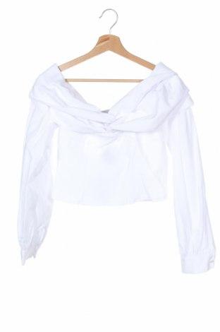 Дамска блуза Na-Kd, Размер S, Цвят Бял, 60% памук, 40% полиестер, Цена 36,75лв.