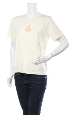 Γυναικεία μπλούζα OAK + FORT, Μέγεθος M, Χρώμα Εκρού, 53% βαμβάκι, 42% μοντάλ, 5% ελαστάνη, Τιμή 10,52€