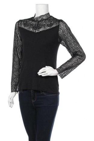 Дамска блуза Object, Размер XL, Цвят Черен, 83% лиосел, 14% полиамид, 3% еластан, Цена 44,25лв.