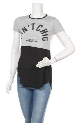 Дамска блуза One Love, Размер XS, Цвят Сив, 65% полиестер, 35% вискоза, Цена 4,73лв.