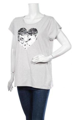 Дамска блуза Page One, Размер XL, Цвят Сив, 80% памук, 20% полиестер, Цена 18,90лв.