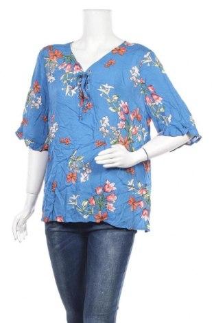 Дамска блуза Rockmans, Размер XL, Цвят Син, Вискоза, Цена 25,94лв.