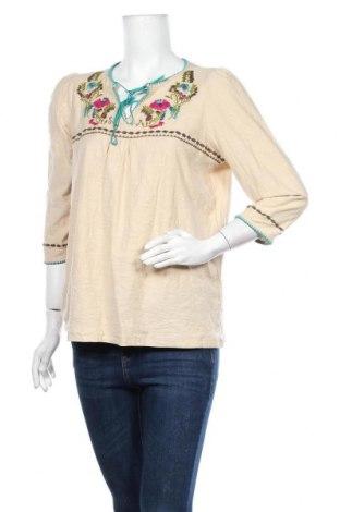 Дамска блуза Rockmans, Размер XL, Цвят Бежов, Памук, Цена 33,60лв.