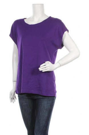 Дамска блуза Rockmans, Размер XL, Цвят Лилав, Памук, Цена 13,97лв.