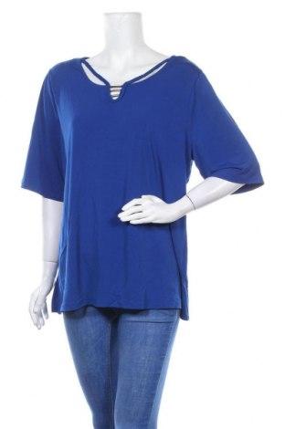 Дамска блуза Rockmans, Размер XL, Цвят Син, Полиестер, еластан, Цена 22,94лв.
