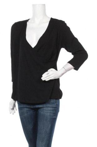 Дамска блуза Rockmans, Размер XL, Цвят Черен, Полиестер, вискоза, еластан, Цена 18,90лв.