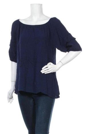 Дамска блуза Rockmans, Размер XL, Цвят Син, Вискоза, Цена 17,96лв.