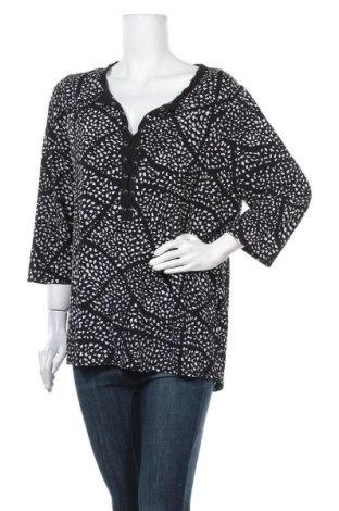 Γυναικεία μπλούζα Rockmans, Μέγεθος XL, Χρώμα Μαύρο, Πολυεστέρας, ελαστάνη, Τιμή 11,69€
