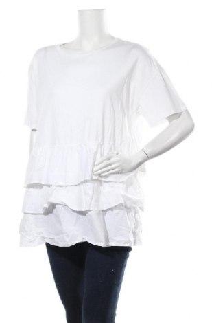 Дамска блуза Seed, Размер XXL, Цвят Бял, 50% памук, 50% модал, Цена 15,96лв.