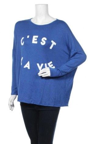 Дамска блуза Seed, Размер S, Цвят Син, 95% модал, 5% еластан, Цена 6,62лв.