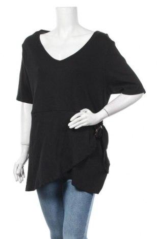 Дамска блуза Simply Be, Размер XXL, Цвят Черен, Памук, Цена 16,56лв.