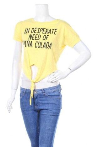 Γυναικεία μπλούζα Sinsay, Μέγεθος XS, Χρώμα Κίτρινο, Βαμβάκι, Τιμή 7,79€