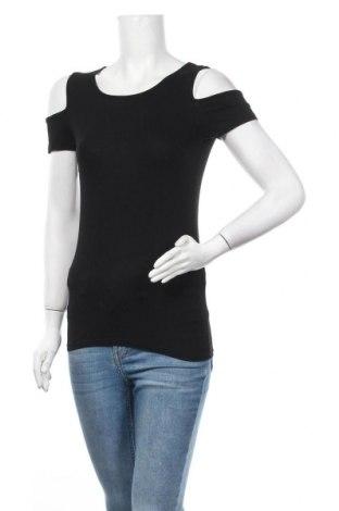 Дамска блуза Sublevel, Размер S, Цвят Черен, 95% вискоза, 5% еластан, Цена 15,12лв.